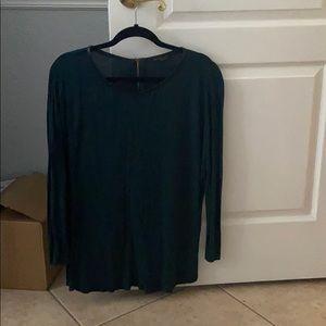 Long Sleeve Tunic, zipper detail
